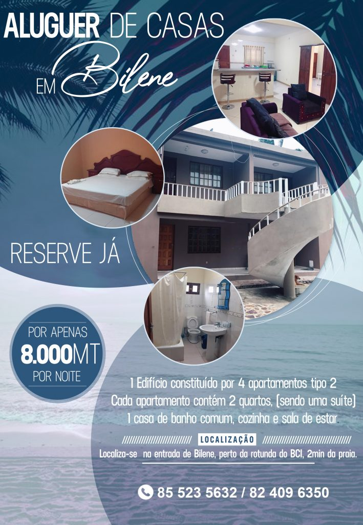 Flat to rent in Mozambique Bilene